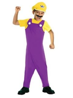 Nintendo Boys Super Mario Brothers Wario Costume With
