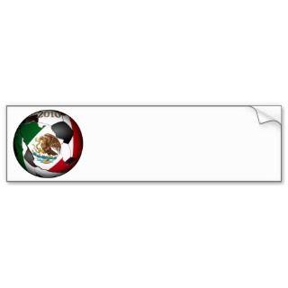 2010 Mexico Soccer Ball Bumper Stickers