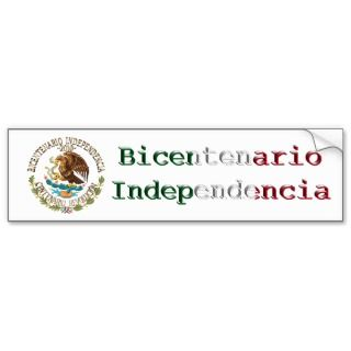 2010 Mexican Independence/Revolution Bumper Stickers