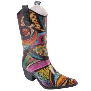 Hailey Jeans Co Womens Cowboy Style Fashion Rainboots Shoes