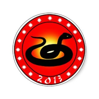 of the snake, Chinese New Year 2013 Square Sticker