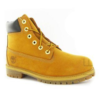 Timberland 6 Premium Wheat Nubuck Juniors Boots Size 6.5 Shoes