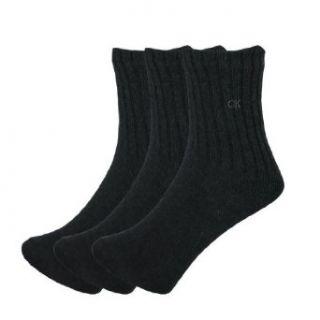Mens Calvin Klein Thermal Winter Crew Socks   CHARCOAL