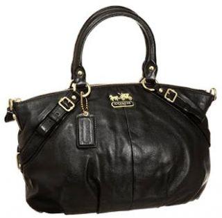 Leather Sophia Convertiable Satchel Bag Purse Tote 15960 Black Shoes