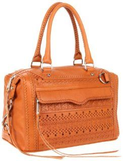 : Rebecca Minkoff Mab Perf Weave Shoulder Bag,Natural,One Size: Shoes