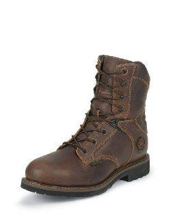 com Justin Mens Rugged Utah Waterproof Insulated Boot   WK680 Shoes