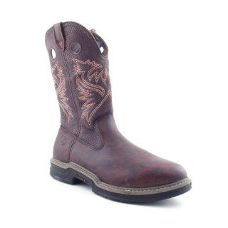 Bandit Cowboy Mens Size 7 Brown Boots Work Leather Work Boots Shoes