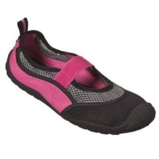 Womens Black & Pink Aqua Socks Water Shoes Size Large 10 11 Shoes