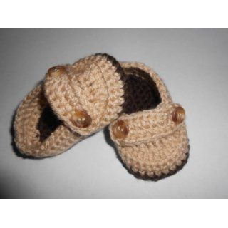 Baby Shoes Booties   Beige / Brown   Baby Shower Gift