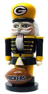 GREEN BAY PACKERS NFL Christmas 9 Nut Cracker NUTCRACKER