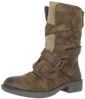 Roxy Womens Biscayne Motorcycle Boot,Tan,6 B US Shoes
