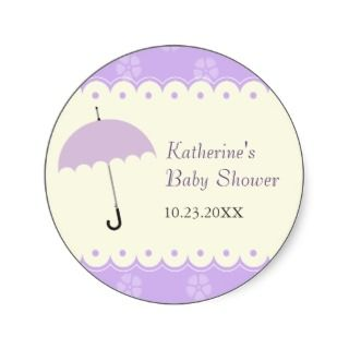 Scalloped Lace Baby Shower Sticker
