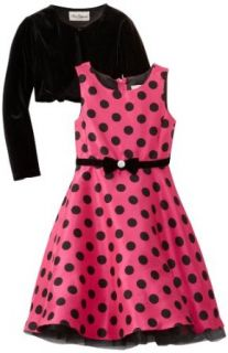 Rare Editions Girls 7 16 Cardigan Dress, Pink/Black, 12