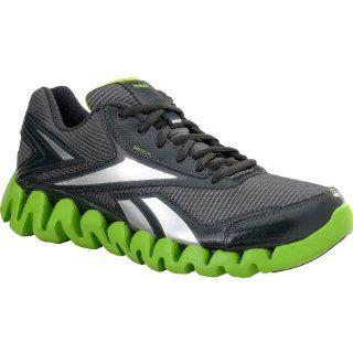 Reebok Zigactivate Gravel/Green/Silver Boys 10.5M Shoes