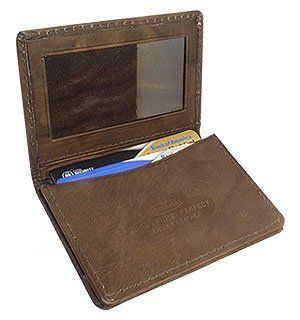 MW580BR 3 x 4 Mens Leather Credit Card Holder Brown