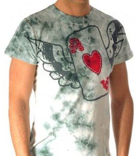 Ed Hardy Mens Vintage Wash Flying Ace Specialty Shirt
