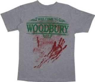 Welcome To Woodbury   Walking Dead Sheer T shirt Clothing