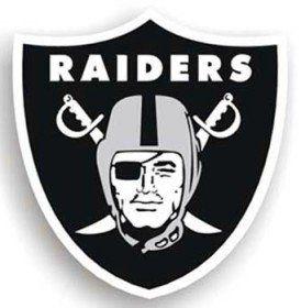 Oakland Raiders 12 Logo Car Magnet