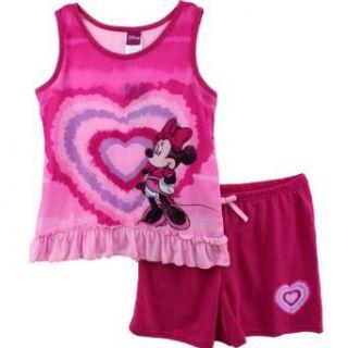 Disney Minnie Mouse Hearts Tank Top & Shorts Pajamas Set
