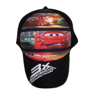 Disney Pixar Cars Lightning Mcqueen Boys Black Baseball