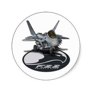 22 Raptor Round Sticker