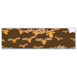 Christmas Rudolf Wallpaper Bumper Sticker