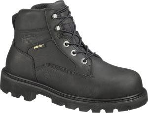 Mens Bronco 6 Inch Gore Tex Boot Black Leather Boots 9.5 Shoes