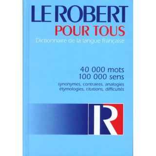 LE ROBERT POUR TOUS   Achat / Vente livre pas cher