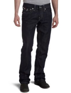 True Religion Mens Ricky Straight Jean,Body Rinse,34