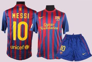 Barcelona 2012 Messi Home Jersey Shirt & Shorts Size S