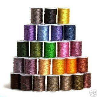25 Spools TWIST/ TWEED Embroidery Machine Thread Arts