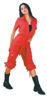 UFO Girly Hipster Flight Suit (Red) Clothing