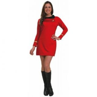 Adult Red Classic Star Trek Dress Costume   Extra Small