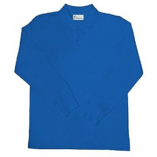 Unisex School Uniform Top Royal Blue Long Sleeved Polo