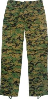 Digital Woodland Camouflage BDU Pants Clothing