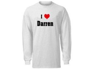 I Love/Heart Darren Adult Long Sleeve T Shirt In Various