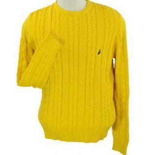 Nautica Crew Neck Cable Knit Sweater for Men Nautica