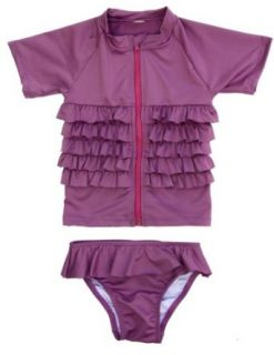 Ruffle Me Pretty   UV Sun Protective Rash Guard Swimsuit