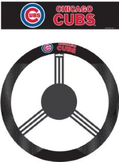 MLB Chicago Cubs Poly Suede Steering Wheel Cover Sports