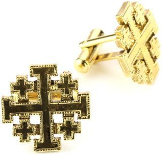 The Vatican Library Collection Mens Gold Tone Jerusalem
