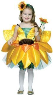 Toddler Girls Little Sunflower Halloween Costume: Clothing