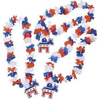 Democrat Flower Leis   4th of July & Costume Accessories