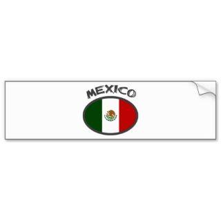 Mexico Cool Flag Design Bumper Sticker