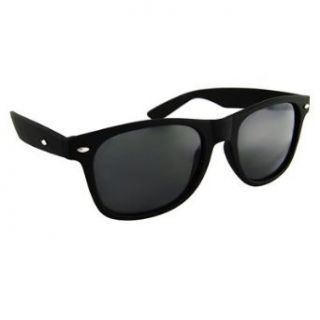 Vintage Wayfarer Black Super Dark Black Lens Clothing