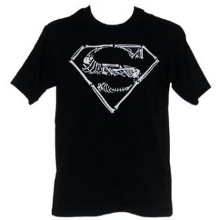 Superman Glow in the Dark Bone Logo Mens T Shirt