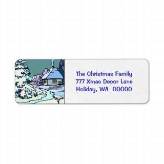 Christmas Card Return Address Sticker Custom Return Address Labels
