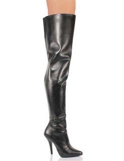Sexy Black High Heel Thigh High Boot   8 Clothing
