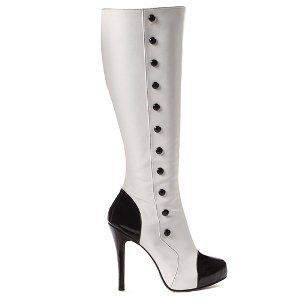 Buttons (Black/White) Adult Boots Size 9 Clothing