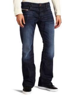 Diesel Mens Zathan Boot Cut Jean, Denim, 33 Clothing