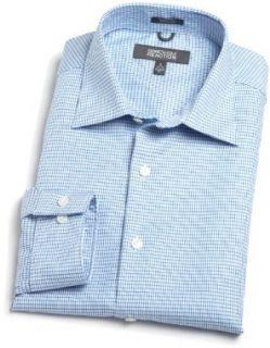 Kenneth Cole Reaction Mens Fancy Dress Shirt, Blue, 15.5